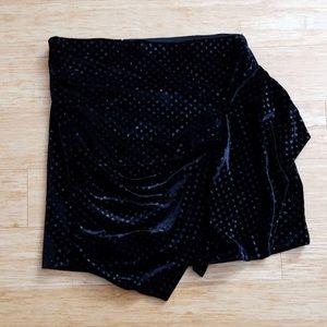 Women's Zara Velvet Mini Skirt